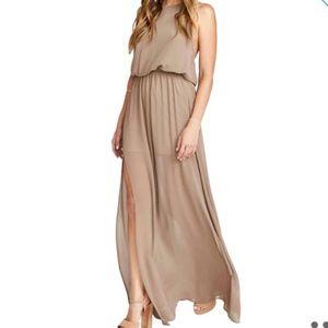 SHOW ME YOUR MUMU Heather Chiffon Halter Gown XL